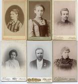 Old family photos — Stock Photo