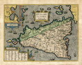 Old map of Sicily — Stock Photo