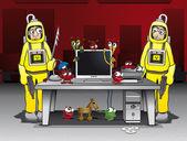 Combatting computer viruses and trojan horses — Stock Vector