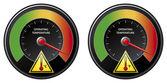 Overheat warning — Stock Vector