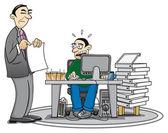 Exceso de trabajo — Vector de stock