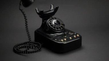 Vintage Telephone — Stock Video