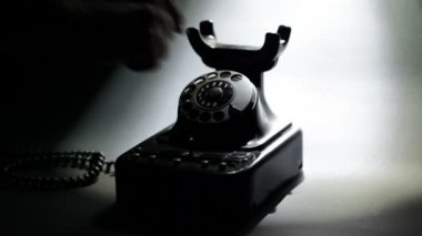 Vintage Telephone — Stock Video