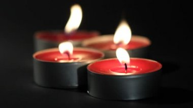 Red candle, tealight — Stock Video