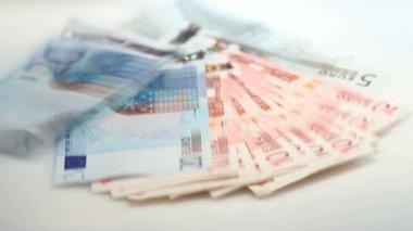 Euro banknotes — Stock Video