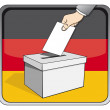 Germelections - ballot box — Stock Vector #18809145