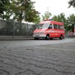 German firetrucks — Stock Video