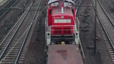 Cargo train — Stockvideo