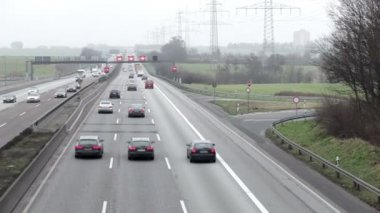 Commuter traffic on german highway — Stock Video