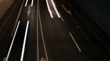 Night traffic — Stock Video