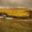 Red barn in upstate New york - Stock Photo