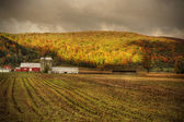 Red barn in upstate New york — Stock Photo