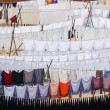 Rows of Laundry hanging to dry outside  — Stock Photo