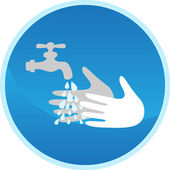 Hand washing sign — Stock Vector