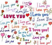 I love you! set — Stock Vector