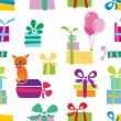 Gift seamless pattern — Stock Vector