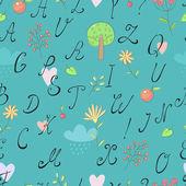 アルファベットの背景 — ストックベクタ