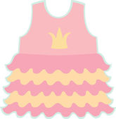 Baby girl dress — Stock Vector