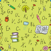 Alphabet seamless background — Stock Vector