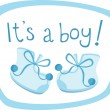 Baby boy boots - Stock Vector