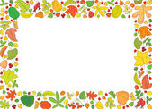 Rectangle backround with autumn leaves — Stock Vector