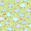 Seamless pattern with sheep — Stock Vector