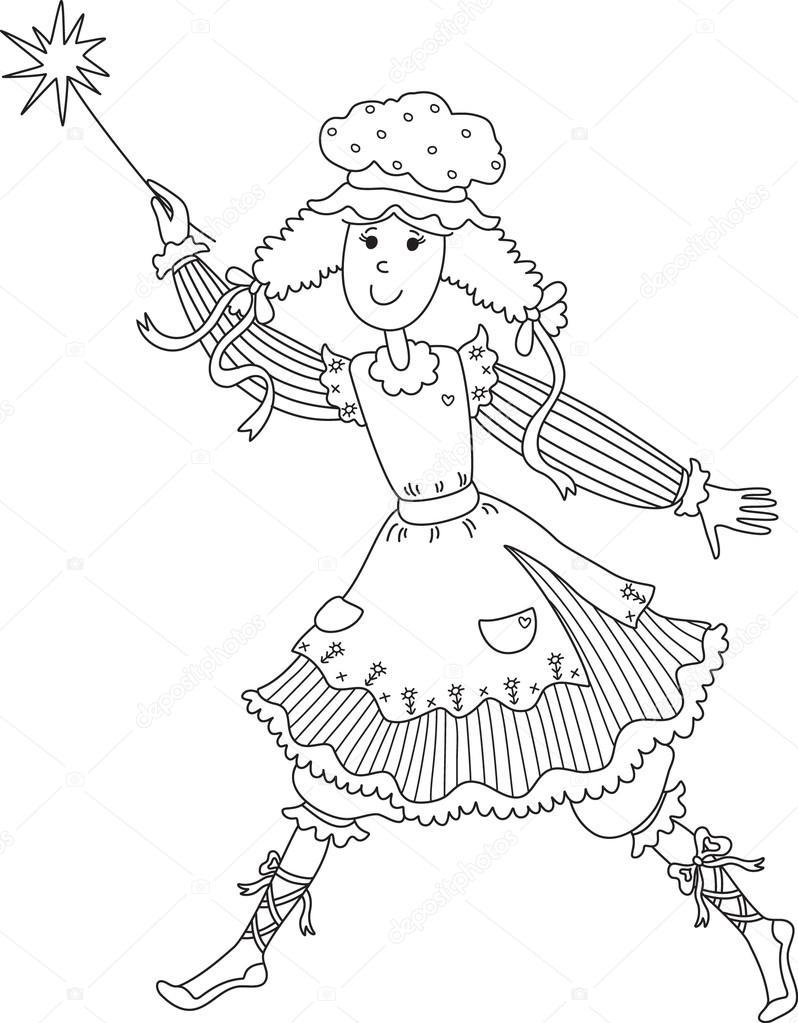 用魔杖的童话 — 图库矢量图像08