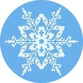 Ronde achtergrond met sneeuwvlok — Stockvector