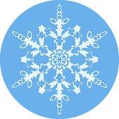 Kar tanesi ile yuvarlak arka plan — Stok Vektör