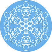 Round background with snowflake — Stock Vector