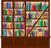 Bookcase — Stockvector