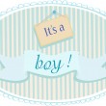 Baby boy announcement card — Stock Vector #40864953