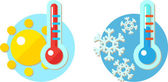 Weather Icons in 2-D design — Stock Vector