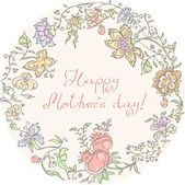 The Mother's Day — Stock Vector