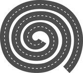 Highway. Round maze — Stock Vector
