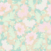 Seamless background with pastel flowers — Stock Vector