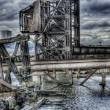 Stock Photo: HDR image of am old run down shipping terminal