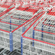 American shopping carts stacked together. — Stock Photo #14307851