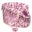 Royalty-Free Stock Photo: Pink leopard print bag for small dogs.