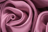 Close up of shiny light purple fabric flower. — Stock Photo