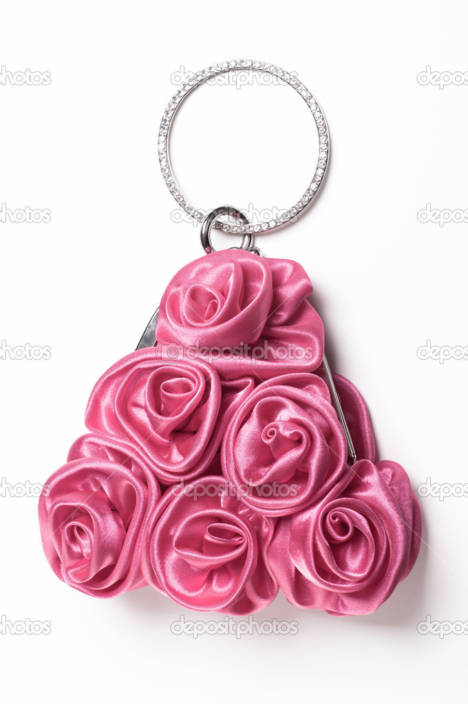 Flower purse on white background — Stock Photo #14313135