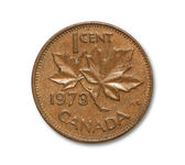 One cent Canadian copper coin — Stock Photo