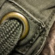 Stock Photo: Macro shot of green textured garment