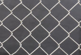 White chain link fence background — Stock Photo