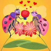 Lovers bugs — Stock Vector