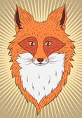 Portrait of a fox — Stock Vector