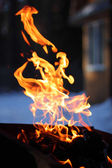 The flame of the fire reminiscent of the spirit of man — Stock Photo