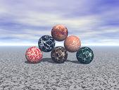 Marble ball — Stock Photo