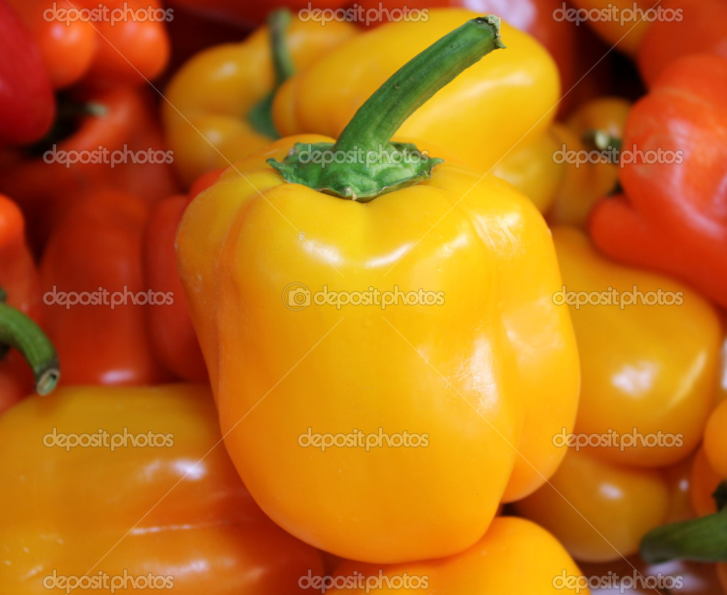 Orange Sweet pepper   Stock Photo #15577715