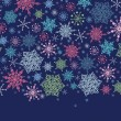 Holiday Snowflakes Seamless Horizontal Background — Stock Vector